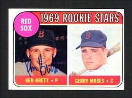Ken Brett Autographed 1969 Topps Rookie Card #476 Boston Red Sox SKU #162015