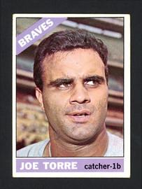 Joe Torre Autographed 1966 Topps Card #130 Milwaukee Braves SKU #162179