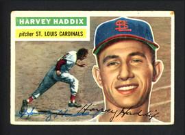 Harvey Haddix Autographed 1956 Topps Card #77 St. Louis Cardinals SKU #162239