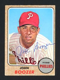 John Boozer Autographed 1968 Topps Card #173 Philadelphia Phillies SKU #162262