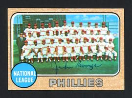 John Boozer Autographed 1968 Topps Card #477 Philadelphia Phillies SKU #162263