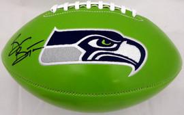 Brian Bosworth Autographed Seattle Seahawks Green Logo Football MCS Holo Stock #161484