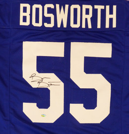 Seattle Seahawks Brian Bosworth Autographed Blue Jersey MCS Holo Stock #161509