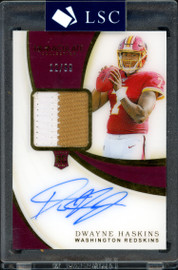 Dwayne Haskins Autographed 2019 Panini Immaculate Collection Rookie Card #101 Washington Redskins Jersey Patch #12/99 SKU #162350
