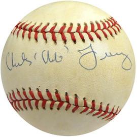 """Charles """"Chub"""" Feeney Autographed Official NL Feeney Baseball NL President Beckett BAS #S75357"""