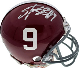 Bo Scarborough Autographed Alabama Crimson Tide Mini Helmet Beckett BAS Stock #161028