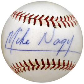 Mike Nagy Autographed Official Wilson Baseball Boston Red Sox PSA/DNA #Y29692