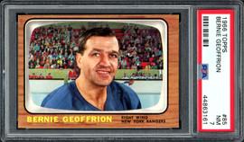 "Bernie ""Boom Boom"" Geoffrion 1966-67 Topps Card #85 New York Rangers Card Grade NM 7 PSA #44863161"
