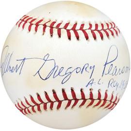 """Albie Pearson Autographed Official AL Baseball Washington Senators """"A.L. ROY 1958"""" Full Name Beckett BAS #S99691"""