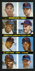 Rod Carew & Frank Quilici Autographed 4.5x9 1970 Press Guide Minnesota Twins Beckett BAS #S99511