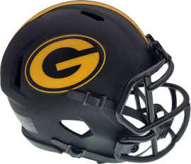 Green Bay Packers Unsigned Eclipse Black Speed Mini Helmet Stock #163513