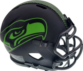 Seattle Seahawks Unsigned Eclipse Black Speed Mini Helmet Stock #163519