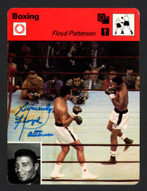 """Floyd Patterson Autographed 1978 Sportscaster Card """"Sincerely"""" SKU #163641"""