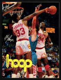 Otis Thorpe Autographed Hoop Program Houston Rockets SKU #163648
