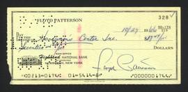 Floyd Patterson Autographed 3x6 Check SKU #163679