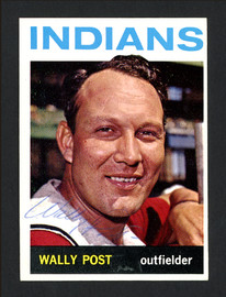 Wally Post Autographed 1964 Topps Card #253 Cleveland Indians SKU #163909