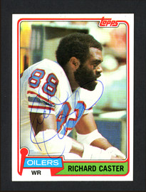 Richard Caster Autographed 1981 Topps Card #471 Houston Oilers SKU #164084