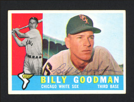 Billy Goodman Autographed 1960 Topps Card #69 Chicago White Sox SKU #164291