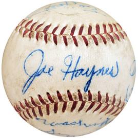 1955 Washington Senators Autographed Official NL Baseball With 4 Total Signatures Including Joe Haynes Beckett BAS #A59241
