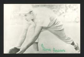 Gene Hasson Autographed 3.5x5.5 Jim Rowe Postcard Philadelphia A's SKU #164883