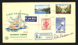 Pete Rademacher Autographed First Day Cover 1956 USA Olympics Gold SKU #164932
