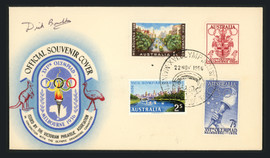 Dick Boushka Autographed First Day Cover 1956 USA Olympics Gold SKU #164941