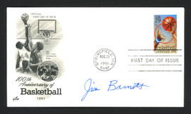 Jim Barnett Autographed First Day Cover New York Knicks SKU #165002