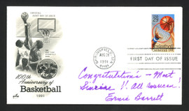 "Ernie Barrett Autographed First Day Cover Boston Celtics ""Congratulations"" SKU #165003"