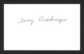 Terry Dischinger Autographed 3x5 Index Card Detroit Pistons SKU #165014