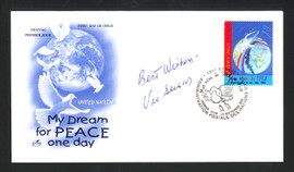 """Vic Seixas Autographed First Day Cover """"Best Wishes"""" SKU #165030"""