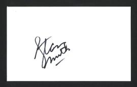 Stan Smith Autographed 3x5 Index Card SKU #165033