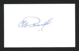 Charlie Pasarell Autographed 3x5 Index Card SKU #165035