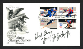 """Jojo Starbuck Autographed First Day Cover """"God Bless You"""" SKU #165041"""
