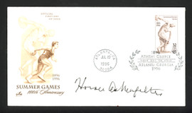Horace Ashenfelter Autographed First Day Cover 1952 Olympic Gold SKU #165043