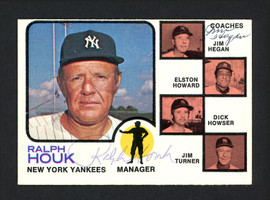 Jim Hegan & Ralph Houk Autographed 1973 Topps Card #116 New York Yankees SKU #165307
