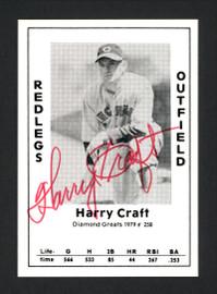 Harry Craft Autographed 1979 Diamond Greats Card #258 Cincinnati Reds SKU #165711