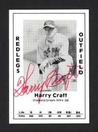Harry Craft Autographed 1979 Diamond Greats Card #258 Cincinnati Reds SKU #165712