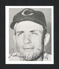 Johnny Wyrostek Autographed 1978 Bowman 1948 Bowman Reprint Card #44 Cincinnati Reds SKU #165733