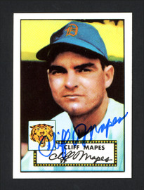 Cliff Mapes Autographed 1983 Topps 1952 Topps Reprint Card #103 Detroit Tigers SKU #165888