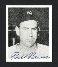 Bill Bevens Autographed 1978 Bowman 1948 Bowman Reprint Card #22 New York Yankees SKU #165912