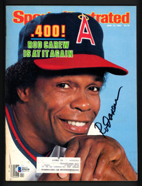 Rod Carew Autographed Sports Illustrated Magazine California Angels Beckett BAS #S76216