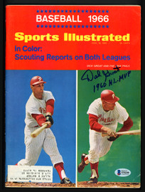 "Dick Groat Autographed Sports Illustrated Magazine Philadelphia Phillies ""1960 NL MVP"" Beckett BAS #S76240"