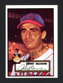"John ""Johnny"" Berardino Autographed 1983 Topps 1952 Topps Reprint Card #253 Cleveland Indians SKU #166303"