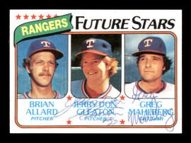 Jerry Don Gleaton & Greg Mahlberg Autographed 1980 Topps Rookie Card #673 Texas Rangers SKU #166398