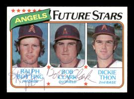 Ralph Botting & Bob Clark Autographed 1980 Topps Rookie Card #663 California Angels SKU #166403