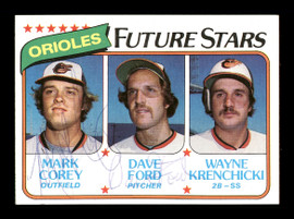 Mark Corey & Dave Ford Autographed 1980 Topps Rookie Card #661 Baltimore Orioles SKU #166408