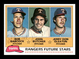 Bob Babcock & John Butcher Autographed 1981 Topps Rookie Card #41 Texas Rangers SKU #166416