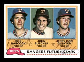 Bob Babcock & Jerry Don Gleaton Autographed 1981 Topps Rookie Card #41 Texas Rangers SKU #166417