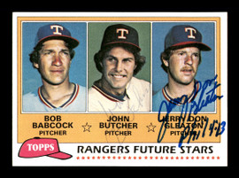 John Butcher & Jerry Don Gleaton Autographed 1981 Topps Rookie Card #41 Texas Rangers SKU #166418