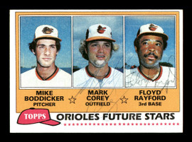 Mark Corey & Floyd Rayford Autographed 1981 Topps Rookie Card #399 Baltimore Orioles SKU #166422